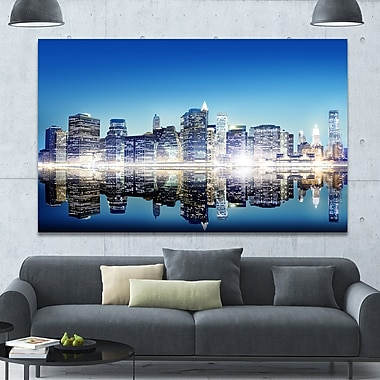 DesignArt 'Skyscraper on New York City' Photographic Print on Canvas; 40'' H x 60'' W x 1.5'' D