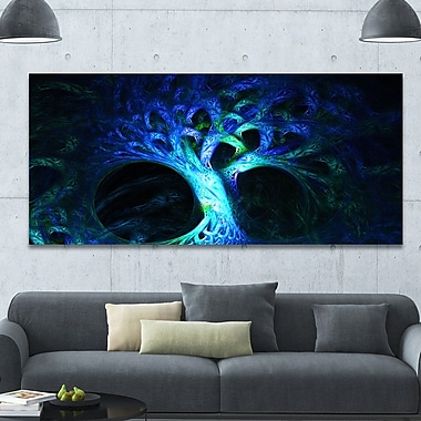 DesignArt 'Magical Blue Psychedelic Tree' Graphic Art on Canvas; 28'' H x 60'' W x 1.5'' D