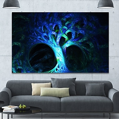 DesignArt 'Magical Blue Psychedelic Tree' Graphic Art on Canvas; 40'' H x 60'' W x 1.5'' D