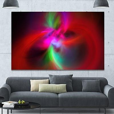 DesignArt 'Red Spiral Kaleidoscope' Graphic Art on Canvas; 40'' H x 60'' W x 1.5'' D