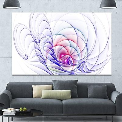 DesignArt '3D Blue Surreal Illustration' Graphic Art on Canvas; 40'' H x 60'' W x 1.5'' D