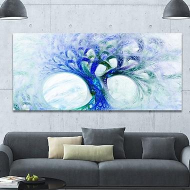 DesignArt 'Blue Mystic Psychedelic Tree' Graphic Art on Canvas; 28'' H x 60'' W x 1.5'' D
