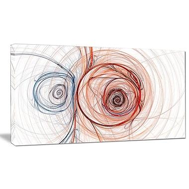 DesignArt 'Brown Blue Fractal Illustration' Graphic Art on Canvas; 20'' H x 40'' W x 1'' D