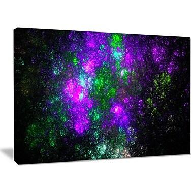 DesignArt 'Explosion Supernova Fractal Art' Graphic Art on Canvas; 30'' H x 40'' W x 1'' D