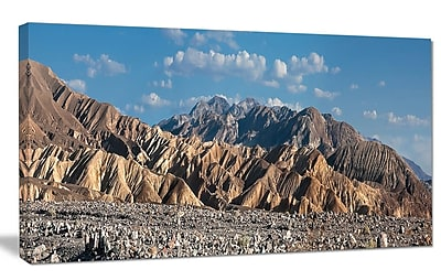 DesignArt 'Beautiful Hills in Death Valley' Photographic Print on Canvas; 20'' H x 40'' W x 1'' D