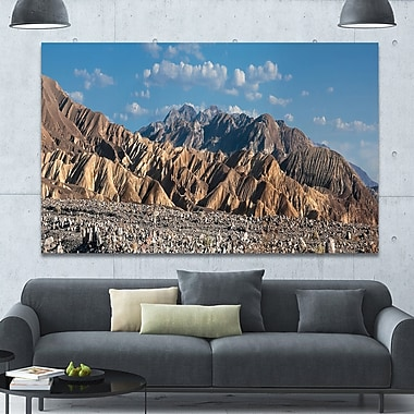 DesignArt 'Beautiful Hills in Death Valley' Photographic Print on Canvas; 40'' H x 60'' W x 1.5'' D