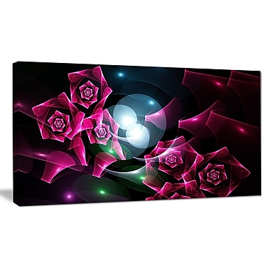 DesignArt 'Pink Bouquet of Beautiful Roses' Graphic Art on Canvas; 12'' H x 20'' W x 1'' D