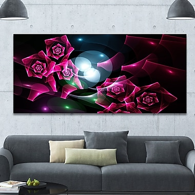DesignArt 'Pink Bouquet of Beautiful Roses' Graphic Art on Canvas; 28'' H x 60'' W x 1.5'' D