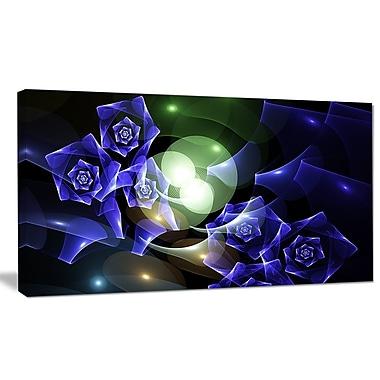 DesignArt 'Blue Bouquet of Beautiful Roses' Graphic Art on Canvas; 12'' H x 20'' W x 1'' D