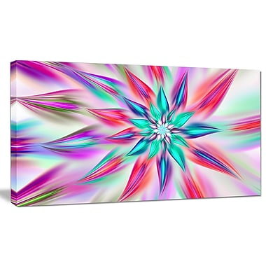 DesignArt 'Dancing Pink Flower Petals' Graphic Art on Canvas; 20'' H x 40'' W x 1'' D