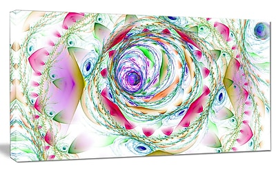 DesignArt 'Multi-Color Exotic Flower Whirlpool' Graphic Art on Canvas; 12'' H x 20'' W x 1'' D