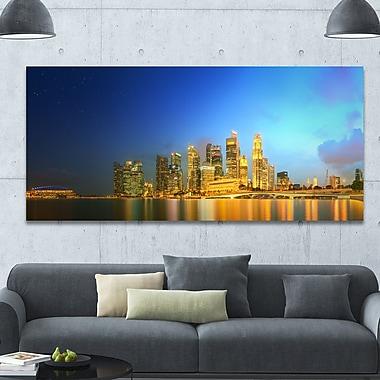 DesignArt 'Singapore Skyline and Marina Bay' Photographic Print on Canvas; 28'' H x 60'' W x 1.5'' D