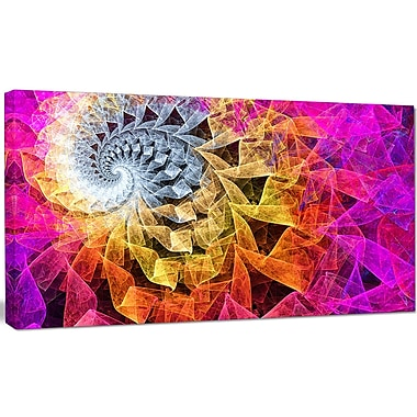 DesignArt 'Colorful Spiral Kaleidoscope' Graphic Art on Canvas; 20'' H x 40'' W x 1'' D