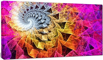 DesignArt 'Colorful Spiral Kaleidoscope' Graphic Art on Canvas; 12'' H x 20'' W x 1'' D