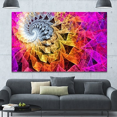DesignArt 'Colorful Spiral Kaleidoscope' Graphic Art on Canvas; 40'' H x 60'' W x 1.5'' D