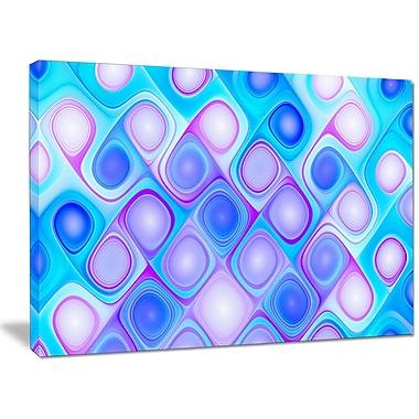 DesignArt 'Dense Blue Pattern w/ Swirls' Graphic Art on Canvas; 30'' H x 40'' W x 1'' D