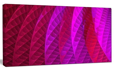 DesignArt 'Layered Pink Psychedelic Design' Graphic Art on Canvas; 20'' H x 40'' W x 1'' D