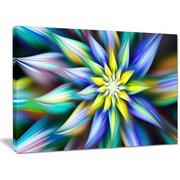 DesignArt 'Dancing Multi-Color Flower Petals' Graphic Art on Canvas; 12'' H x 20'' W x 1'' D