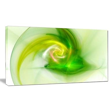 DesignArt 'Bright Green Fractal Illustration' Graphic Art on Canvas; 16'' H x 32'' W x 1'' D
