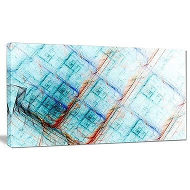 DesignArt 'Light Blue Metal Grill' Graphic Art on Canvas; 16'' H x 32'' W x 1'' D