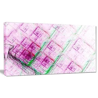 DesignArt 'Purple Fractal Grill Pattern' Graphic Art on Canvas; 12'' H x 20'' W x 1'' D