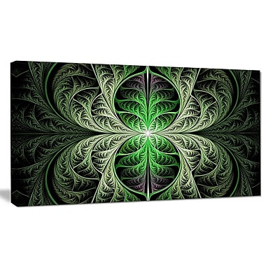 DesignArt 'Fabulous Green Fractal Texture' Graphic Art on Canvas; 20'' H x 40'' W x 1'' D