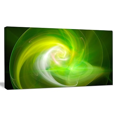 DesignArt 'Green Fractal Abstract Illustration' Graphic Art on Canvas; 12'' H x 20'' W x 1'' D