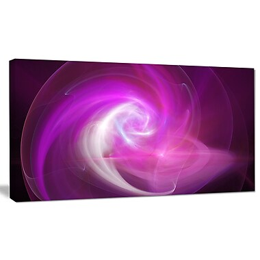 DesignArt 'Pink Fractal Abstract Illustration' Graphic Art on Canvas; 16'' H x 32'' W x 1'' D