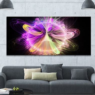 DesignArt 'Purple Circle w/ Amazing Curves' Graphic Art on Canvas; 28'' H x 60'' W x 1.5'' D