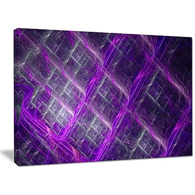 DesignArt 'Purple Abstract Metal Grill' Graphic Art on Canvas; 30'' H x 40'' W x 1'' D