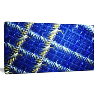 DesignArt 'Blue Abstract Metal Grill' Graphic Art on Canvas; 20'' H x 40'' W x 1'' D