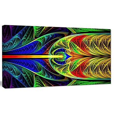 DesignArt 'Colorful Stained Glass Texture' Graphic Art on Canvas; 16'' H x 32'' W x 1'' D