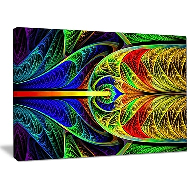 DesignArt 'Colorful Stained Glass Texture' Graphic Art on Canvas; 30'' H x 40'' W x 1'' D