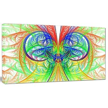 DesignArt 'Extraordinary Fractal Green Design' Graphic Art on Canvas; 12'' H x 20'' W x 1'' D
