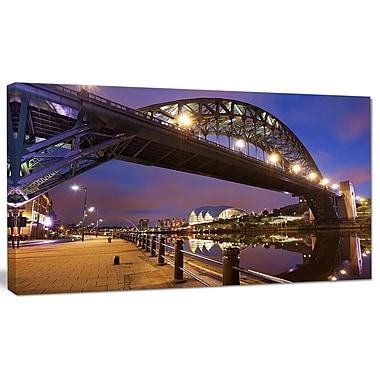 DesignArt 'Bridges Over River Tyne Newcastle' Photographic Print on Canvas; 12'' H x 20'' W x 1'' D