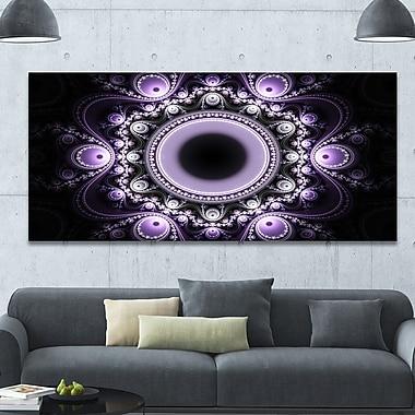 DesignArt 'Light Purple Pattern w/ Circles' Graphic Art on Canvas; 28'' H x 60'' W x 1.5'' D