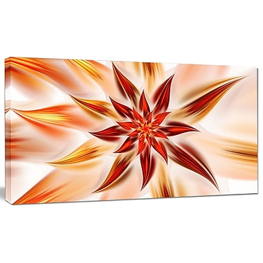 DesignArt 'Dance of Brown Exotic Flower' Graphic Art on Canvas; 16'' H x 32'' W x 1'' D