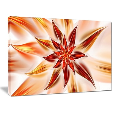 DesignArt 'Dance of Brown Exotic Flower' Graphic Art on Canvas; 30'' H x 40'' W x 1'' D