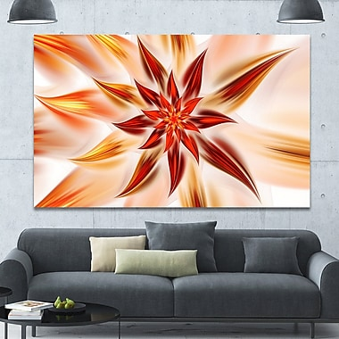 DesignArt 'Dance of Brown Exotic Flower' Graphic Art on Canvas; 40'' H x 60'' W x 1.5'' D