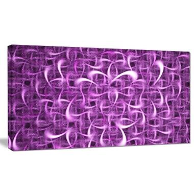 DesignArt 'Purple Watercolor Fractal Pattern' Graphic Art on Canvas; 12'' H x 20'' W x 1'' D