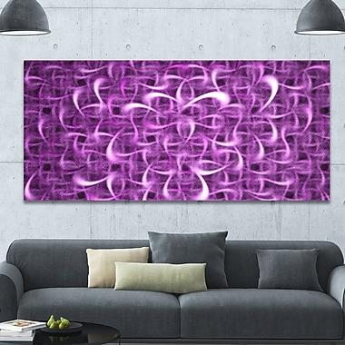 DesignArt 'Purple Watercolor Fractal Pattern' Graphic Art on Canvas; 28'' H x 60'' W x 1.5'' D