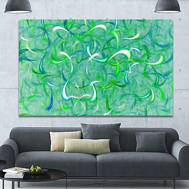 DesignArt 'Green Watercolor Fractal Pattern' Graphic Art on Canvas; 40'' H x 60'' W x 1.5'' D