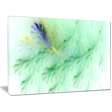 DesignArt 'Light Green Veins of Marble' Graphic Art on Canvas; 30'' H x 40'' W x 1'' D