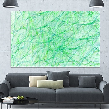 DesignArt 'Clear Green Veins of Marble' Graphic Art on Canvas; 40'' H x 60'' W x 1.5'' D