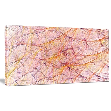 DesignArt 'Mystic Pink Fractal Veins' Graphic Art on Canvas; 12'' H x 20'' W x 1'' D
