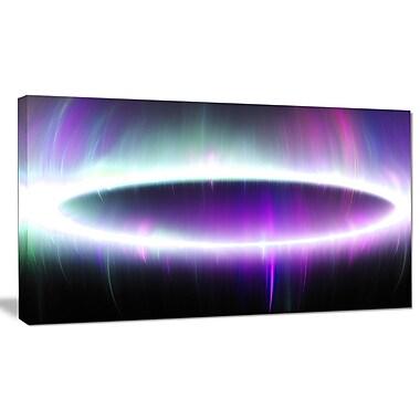 DesignArt 'Beautiful Purple Northern Lights' Graphic Art on Canvas; 12'' H x 20'' W x 1'' D