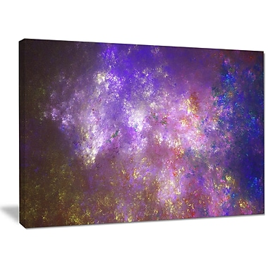DesignArt 'Blur Fractal Sky w/ Stars' Graphic Art Print on Canvas; 30'' H x 40'' W x 1'' D