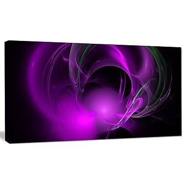DesignArt 'Purple Fractal Galactic Nebula' Graphic Art Print on Canvas; 20'' H x 40'' W x 1'' D