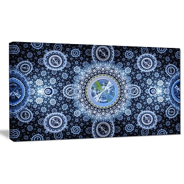 DesignArt 'Clear Blue Psychedelic Relaxing' Graphic Art Print on Canvas; 12'' H x 20'' W x 1'' D