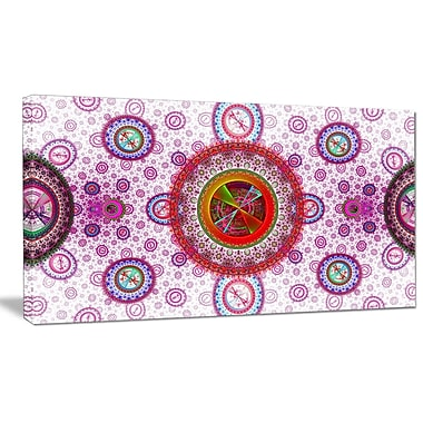 DesignArt 'Pink Psychedelic Relaxing' Graphic Art Print on Canvas; 16'' H x 32'' W x 1'' D